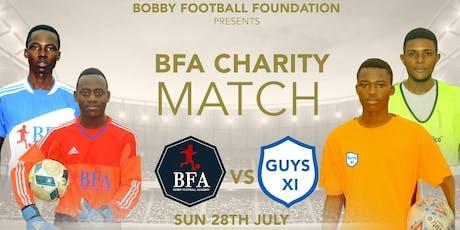 BFA CHARITY MATCH tickets