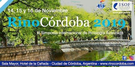 RinoCórdoba 2019: 3er Simposio Internacional de Rinología Avanzada entradas
