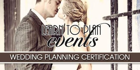 Wedding Planning Certification by LEARN TO PLAN EVENTS | Fayetteville, NC tickets
