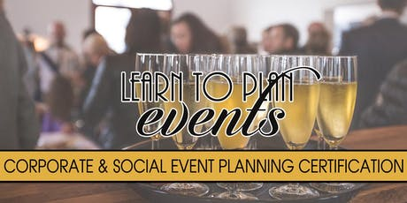 Event Planning Certification by LEARN TO PLAN EVENTS | Fayetteville, NC tickets