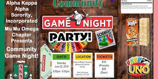 Pink & Green Community Game Night