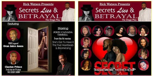 SECRETS LIES & BETRAYAL The Stage Play Balcony Seating