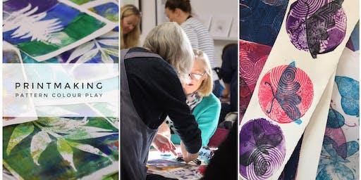 Printmaking: Colour, Pattern Play  ★★★ Fun Printmaking Using a Gel Printing Plate