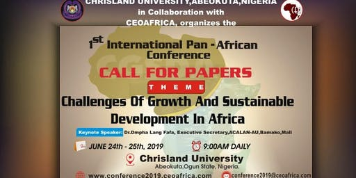 Challenges of Growth and Sustainable Development in Africa