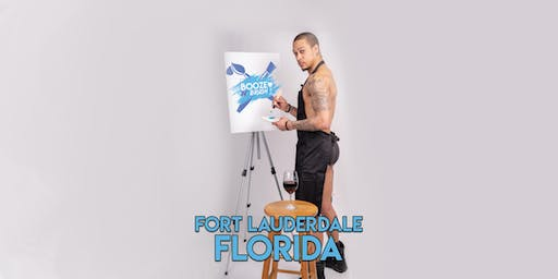 Booze N' Brush Next to Naked Sip N' Paint Fort Lauderdale, FL- Exotic Male Model Painting Event