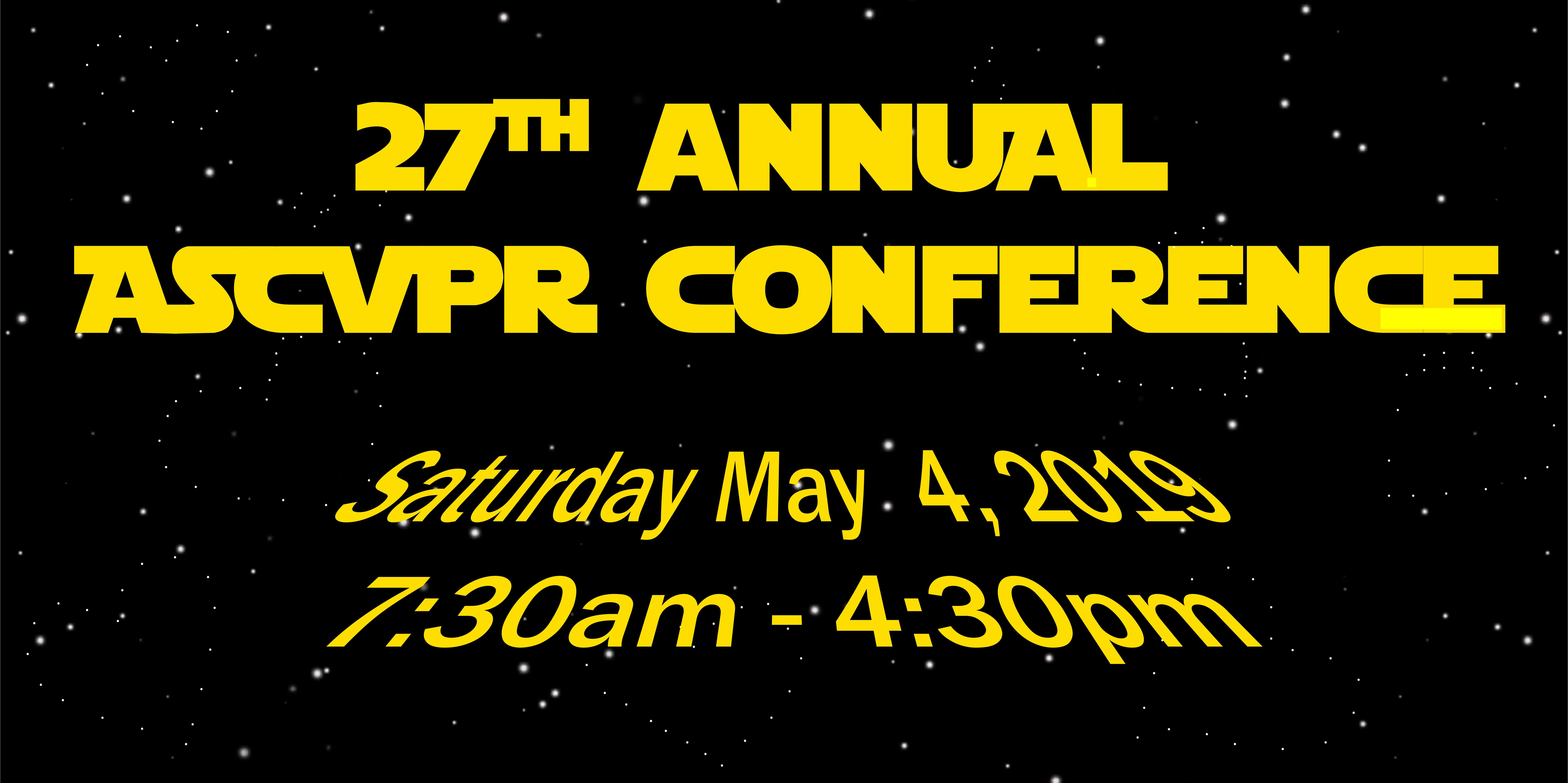 27th Annual ASCVPR Conference