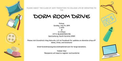 The 1st Annual Dorm Room Drive