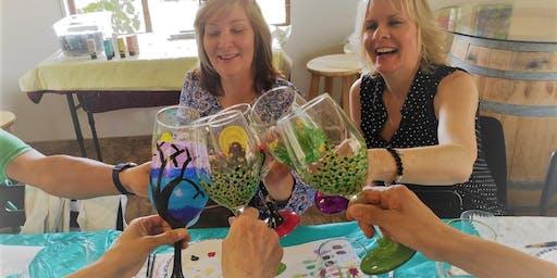 Summer Splash Wine Glass Painting at LDV Winery July 20th
