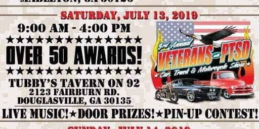 3rd Annual Veterans with PTSD Benefit Car, Truck & Motorcycle Show Weekend
