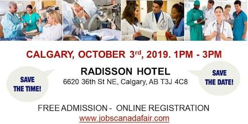 Calgary Healthcare Profession Job Fair - October 3rd, 2019
