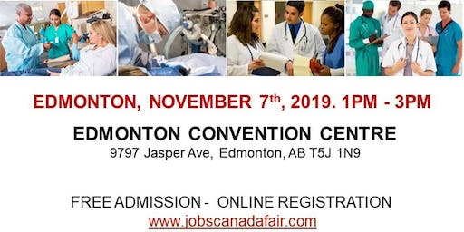 Edmonton Healthcare Profession Job Fair - November 7th, 2019