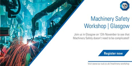 Machinery Safety Workshop | Glasgow tickets