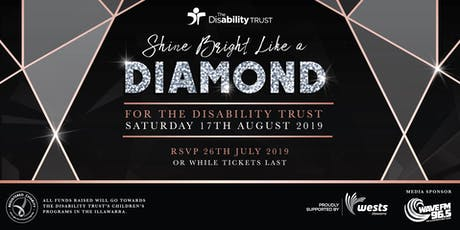 Shine Bright Like A Diamond Gala Night 2019 for The Disability Trust tickets