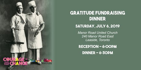 Gratitude Fundraising Dinner 2019 tickets