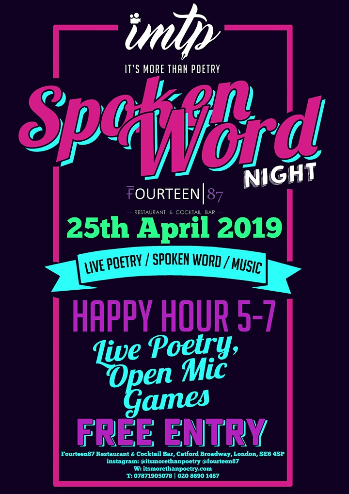 It's More Than Poetry' Spoken Word & Music Night image