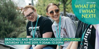 Bracknell and Wokingham College: Open Event, June 2019
