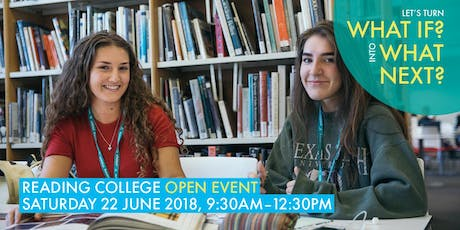 Reading College: Open Event, June 2019 tickets