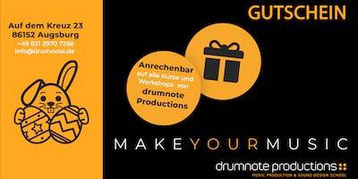 Gutschein | Unterricht in Musikproduktion | Ostergeschenk