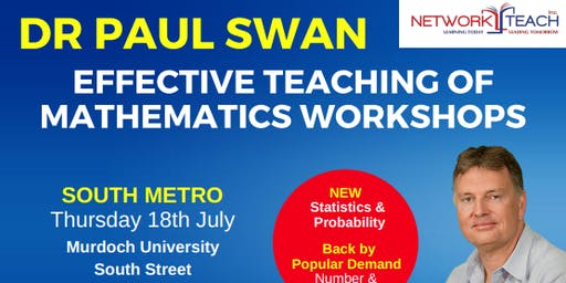 Paul Swan: Effective Teaching of Mathematics within the Statistics & Probability Strand Workshop (South Metro)