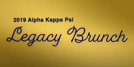 2nd Annual AKPsi Legacy Scholarship Brunch