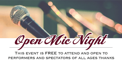 Open Mic Night - Sponsored by The Coronado Music Festival!