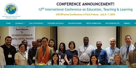 12th International Conference on Education, Teaching & Learning (GVC) tickets
