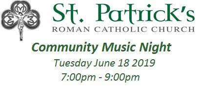 St. Patrick's Community Music Night