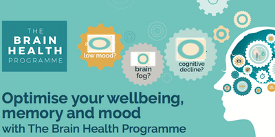 The Brain Health Programme Nutrition & Lifestyle 6-week course 13/4--25/5/19