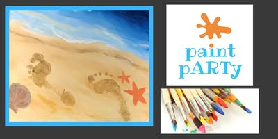 All Ages Paint Party on Canvas- Footprints in the Sand- $25 pp