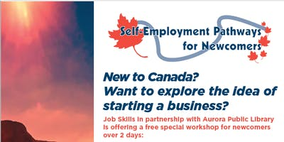 Special Workshop on Self-Employment for Newcomers