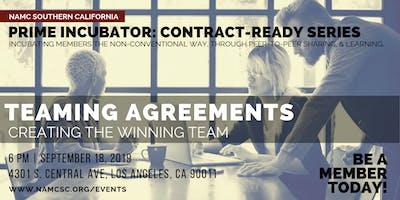 PRIME INCUBATOR: Teaming Agreements