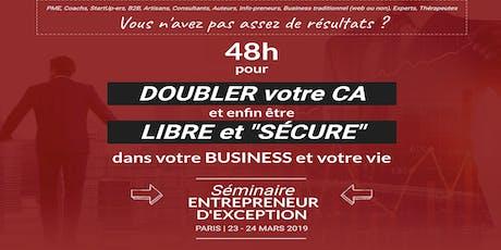 Paris 10/10/2020 Séminaire Entrepreneur d'exception - David Laroche billets