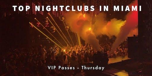 Hip Hop Thursdays - VIP Nightclub Pass - 3 PARTIES - Miami Beach