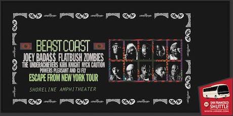 Shoreline Amphitheater Concert Shuttle: Beast Coast featuring Joey Bada$$ tickets
