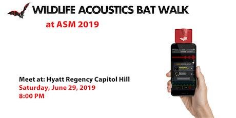 Wildlife Acoustics Bat Walk at ASM 2019 tickets