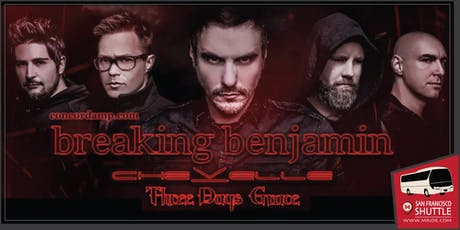 San Francisco Party Bus to Breaking Benjamin at Concord Pavilion tickets