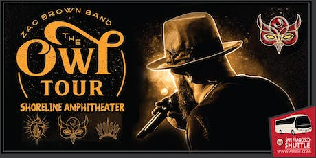 Zac Brown Party Bus to Shoreline Amphitheater tickets