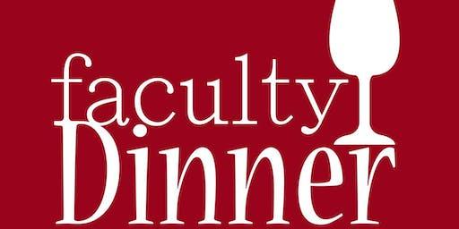 Faculty Dinner