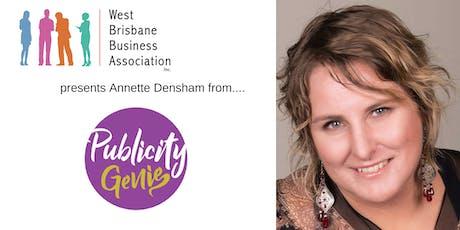 WBBA @ 4070 - Annette Densham (Publicity Genie) tickets