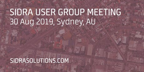 SIDRA USER GROUP MEETING // Sydney [TE052] tickets