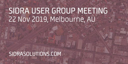 SIDRA USER GROUP MEETING // Melbourne [TE054]