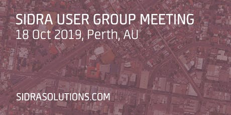 SIDRA USER GROUP MEETING // Perth [TE053] tickets