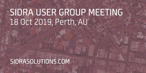 SIDRA USER GROUP MEETING // Perth [TE053]
