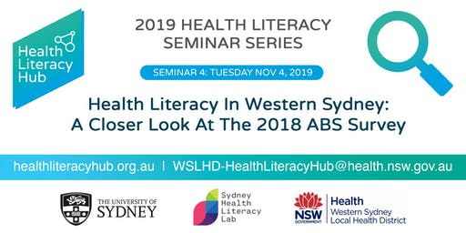Seminar 4: Health Literacy In Western Sydney: A Closer Look At The 2018 ABS Survey