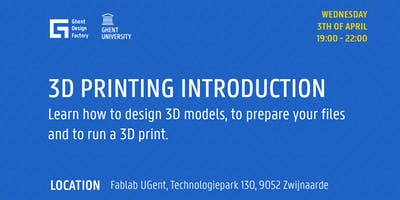Workshop: Introduction to 3D printing
