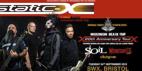 Static-X / Soil / Wednesday 13 / Dope (SWX, Bristol) tickets