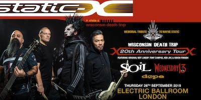 Static-X / Soil / Wednesday 13 / Dope (Electric Ballroom, London)