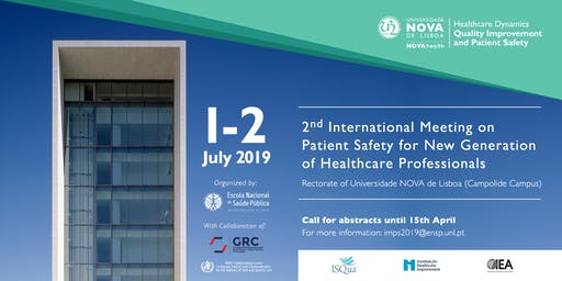 2nd International Meeting on Patient Safety - New Generation of Healthcare