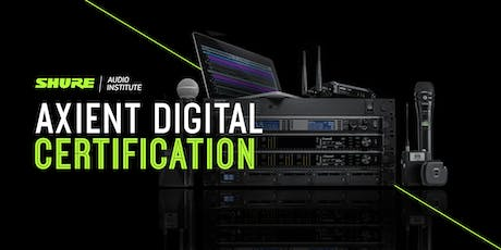Axient Digital Certification tickets