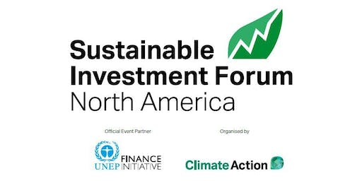 Sustainable Investment Forum 2019 - North America (UK VAT)